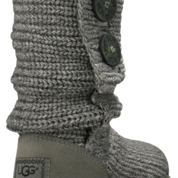 79bddb2d79d Grey Women's Classic Cardy knit boots/booties